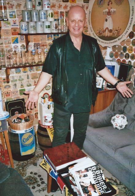 Gary Lux, Sänger und Producer, war vom Bierarium angetan