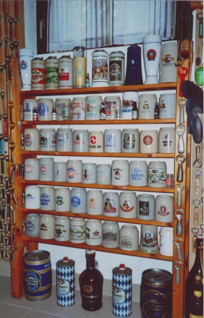 Bierkrüge vor allem aus Deutschland
